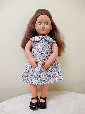 Our Generation Battat Doll Green Eyes Brown Hair 18 Ins/46Cm Br New Condition