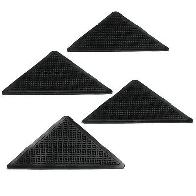 SS 4pcs Rug Carpet Mat Grippers Non Slip Corners Pad Anti Skid Washable Silicone