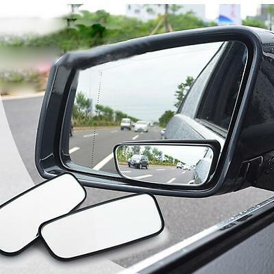 Blind Spot Side Wing Mirror Rear view Wide Angle Adjustable Exterior/internal GA