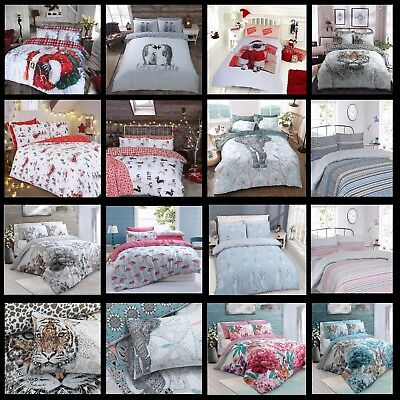 Christmas Kids Duvet Cover & Pillow Case Stylish Easy Care | Single Double King