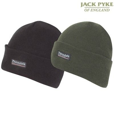 Jack Pyke Mens Beanie Bob Hat Thinsulate Thermal Fleece Lining Army Coldweather