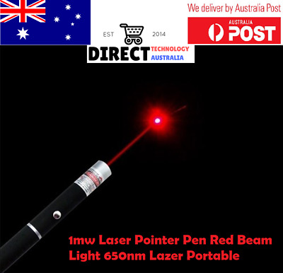 AU Fast Postage New Powerful Light Pen Laser Pointer 1mW Red Light 650nm BLACK