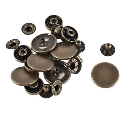 SS Metal Snap Fasteners Poppers Sewing Press Stud Buttons 20mm 6sets