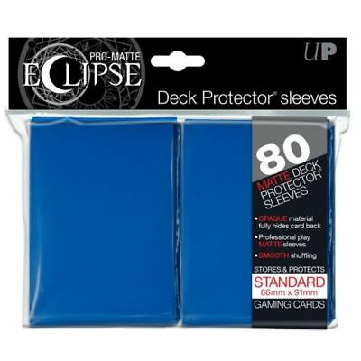 Ultra Pro: Pro Matte Eclipse Deck Protector Sleeves 80ct Standard Size - Blue