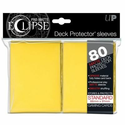 Ultra Pro Pro Matte Eclipse Deck Protector Sleeves 80ct Standard Size Yellow