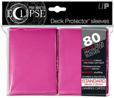 Ultra Pro Pro Matte Eclipse Deck Protector Sleeves 80ct Standard Size Pink