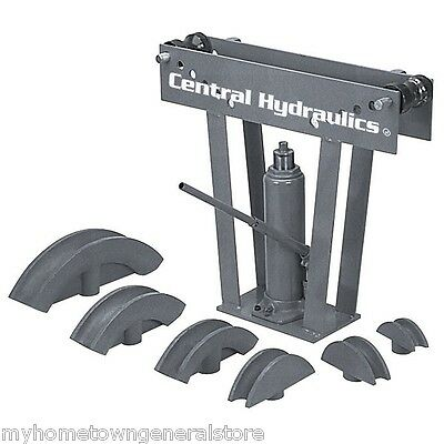 Hydraulic Pipe Tube Bender 6 Dies Tubing Exhaust Bending 12 Ton HEAVY DUTY NEW