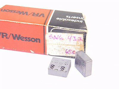 New Surplus 10Pcs. Vr/wesson  Sng 432  Grade: 650  Carbide Inserts