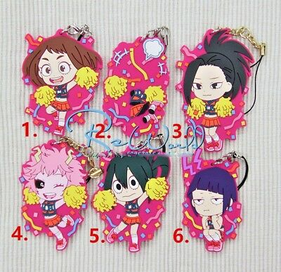 New Hot Japan Anime Boku no Hero Academia Rubber Strap Keychain Pendant Gift A+