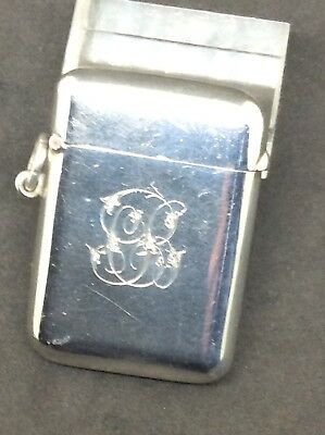 1903 Solid silver Sampson Mordan Vesta Match  Case Seamless