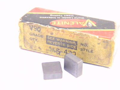 New Surplus 2Pcs. Valenite  Sng 432  Grade: V90  Carbide Inserts