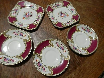 ROYAL CROWN MYOTTS STAFFORDSHIRE SAUCERS DESSERT PLATES Made in England