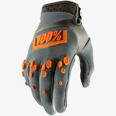 2018 100% AIRMATIC MOTOCROSS MX GLOVES GREY / ORANGE mtb enduro bike
