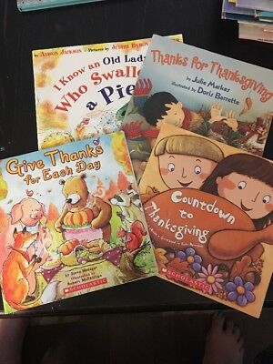 Children's Thanksgiving Book Lot 🦃 Of 4