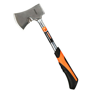 1lb Steel Camping Axe (Portable Handheld Chopping Wood Splitting Tool Accessory)