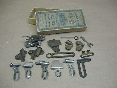 Antique Wheeler Wilson #9 ? Sewing Machine Attachments w/ Goodrich Johnson &&