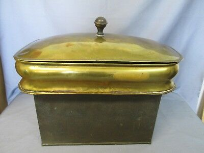 Antique Brass (Hot Water) Insert For A Cooking Stove, Great Patina And Condition