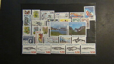 Greenland  stamp collection on Scott Int'l pages , approval pages, glassines,#2