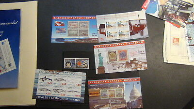 Greenland  stamp collection on Scott Int'l pages , approval pages, glassines,etc