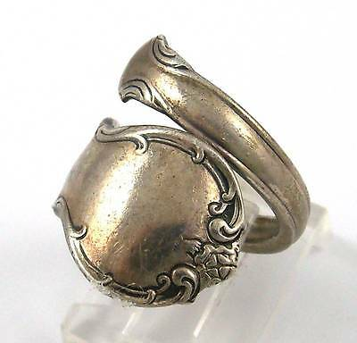 Vintage Towle French Provincial Sterling Silver Spoon Ring Size 7