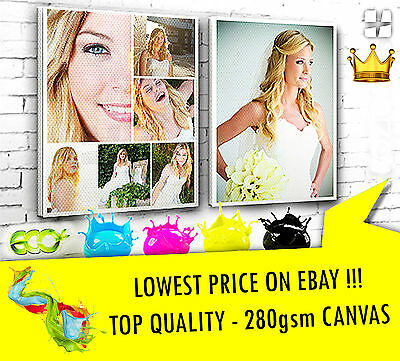 """Your PHOTO//PICTURE 280gsm Personalised A4 8/""""x12/"""" Canvas Print 18mm Frame"""