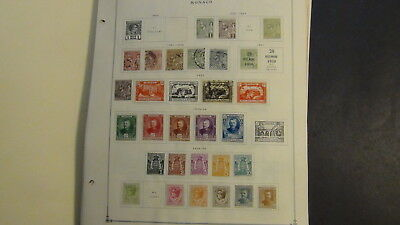Monaco stamp collection on Scott Int'l pages and glassines, etc  w/700 2 sets