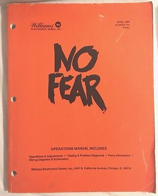 Williams No Fear Operations Manual 16-50025-101 FINAL