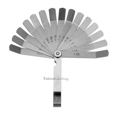 16 Blades Master Feeler Ignition GAUGE 0.05 to 1mm Inspection Clearance Measure