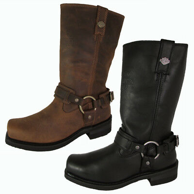 Harley Davidson Mens Westmore Leather Harness Boot Shoes