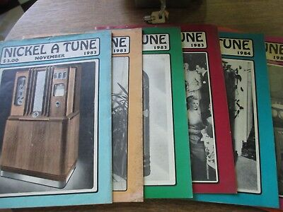 7 Nickel A Tune Magazines From 1983 And 1984 For The Jukebox Collector