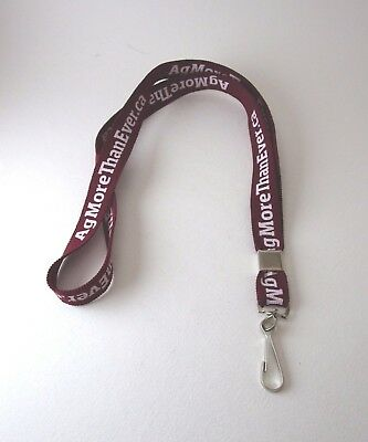 Agriculture Lanyard agmorethanever advertisement Maroon ID Badge Keyring