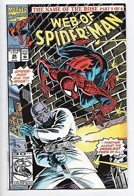 Web of Spider-Man #88 The Rose APP! VF/NM
