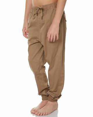 New Swell Boys Kids Boys Cartel Pant Cotton Elastane Brown