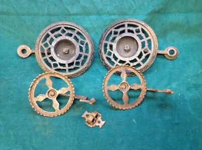 4 (four) Vintage Antique Cast Iron Holder Wall Sconce with Bracket Oil Lamp NICE