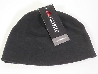 "Polartec ""Classic Micro""  Black Microfleece Cap / Hat - Unisex/One Size Fits All"