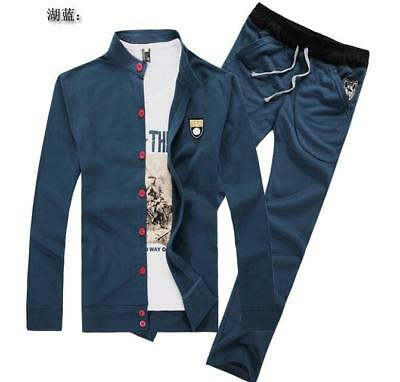 New Mens Fashion Casual Tracksuit Sports Athletic Gym Sweat Running Suit Jogging