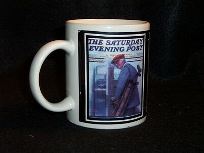 Norman Rockwell Saturday Evening Post cover coffee cup #1