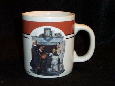 Norman Rockwell Tea Time coffee cup