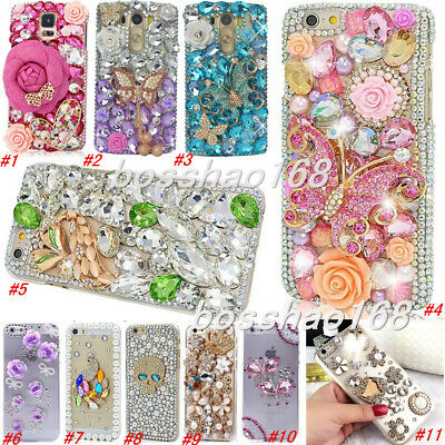 Handmade Bling Diamonds Crystal Soft TPU back Case Cover For Apple iPhone X