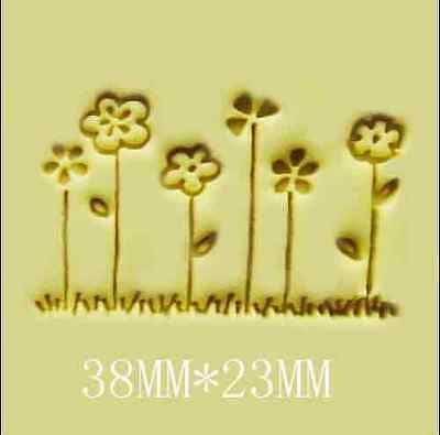 """1pc small cute Floral Handmade Resin Soap Stamp Seal Soap Mold 1.5""""x0.91"""" YZ"""
