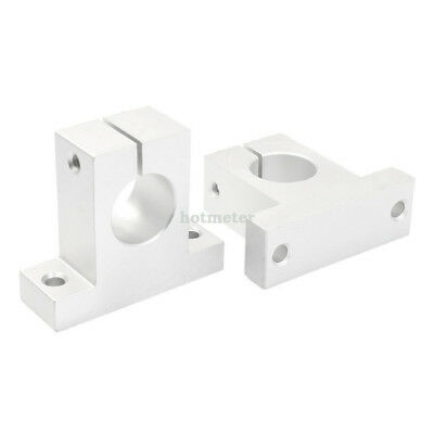 H● 2 Pcs SK25 25mm Bore Linear Rail Shaft Support for Milling Machine