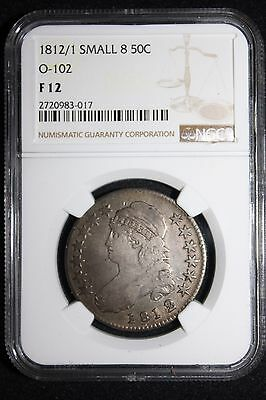 1812/1 Half Dollar Small 8 O-102 - R2 Rarity.  Good Over date for you!