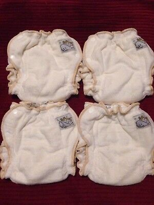 New Motherease Sandy's Bamboo Fitted Diapers Lot Of 4 Size Small