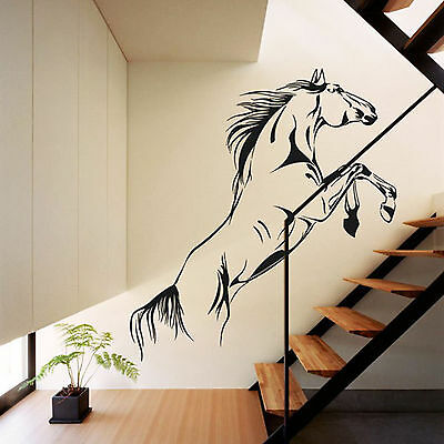 Black Jumping Horse Wall Sticker PVC Decal Home Room Decor Art Mural Removable