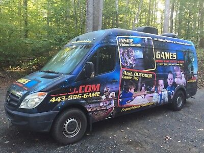 Mobile Video Game Theater Mercedes Sprinter Van