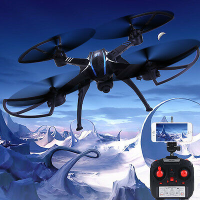 SHENGKAI WIFI FPV 2.4GHz 4CH 6Axis HD 2MP Camera RC Drone Quadcopter RTF Black