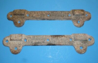 "18 x 20 Vintage Antique Standard D & MWKS Cast Iron Sink Brackets, 15"" Long"