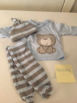 preemie boy clothes lot (1 outfit and 7 carters one pieces)