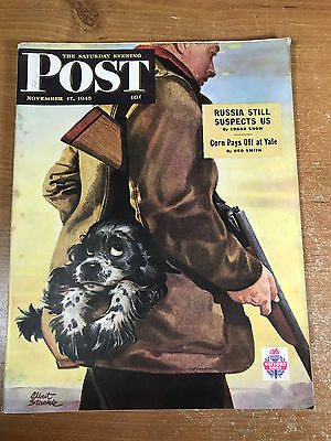 The Saturday Evening Post November 17 1945 Albert Staehle Hunting