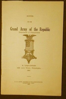 Roster of the Grand Army of the Republic, Department of Pennsylvania 1920 VG